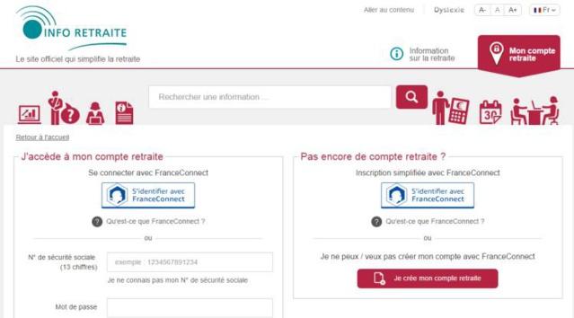 Retraite : créer votre compte personnel sur info-retraite.fr