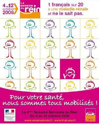 Semaine du rein: un Français sur vingt concerné par les maladies rénales