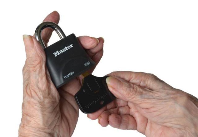 PushKey : un cadenas pour mains fragiles