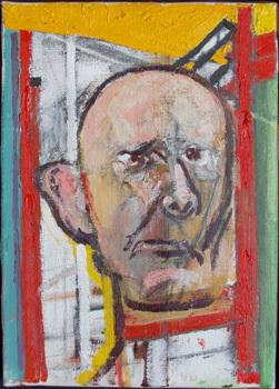 William Utermohlen. Self Portrait. 1998 Huile sur toile 35.5 x 25 cm. Coll. privée