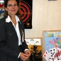 Patricia Joly sur le stand Passé-Simple de Geront'Expo