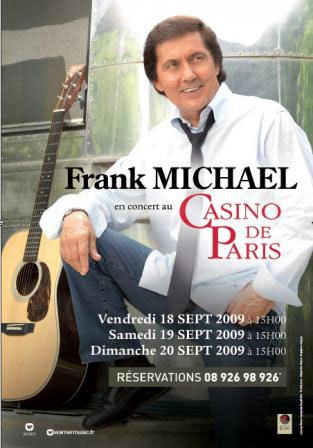 Franck Michael en concert au Casino de Paris ce week-end