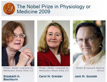 Prix Nobel de Médicine 2009 : la lutte contre le vieillissement récompensée !