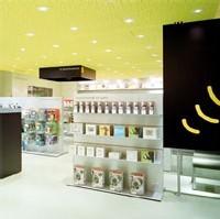 Intérieur du premier magasin parisien