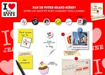 I love my grand-mère : nouvelle campagne pour la fête des grand'mères le 7 mars prochain