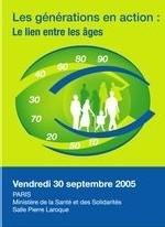 « Des générations en action », un colloque le 30 septembre prochain à Paris
