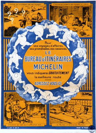Michelin, Affiche le Bureau des Itinéraires