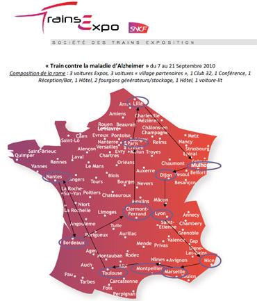Septembre 2010 : un train va parcourir la France pour tout savoir sur la maladie d'Alzheimer
