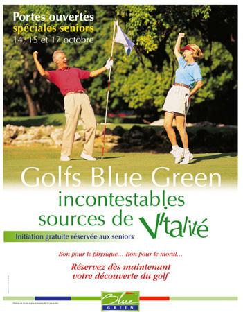 Golf Blue Green : des journées « portes ouvertes » pour les seniors les 14, 15 et 17 octobre 2010