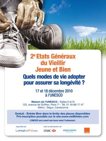 Etats Généraux du Vieillir Jeune et Bien : 2ème édition à l'UNESCO les 17 et 18 décembre 2010