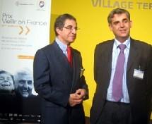 Le Dr Paul Cadre et le député Pascal Terrasse