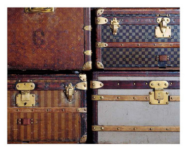 Copyright Collection Louis Vuitton / Quatre malles historiques Louis Vuitton