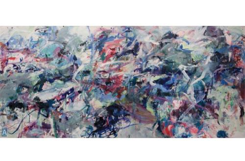 Macha Poynder - Big Summer #2, 2010 (h 140 cm x l 294 cm) - Huile sur toile