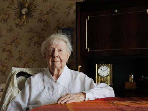 Renée Schaller, 97 ans :une des premières locataires à Azur