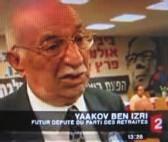 Yaakov Ben Izri, no 2 du Parti des retraités sur France 2