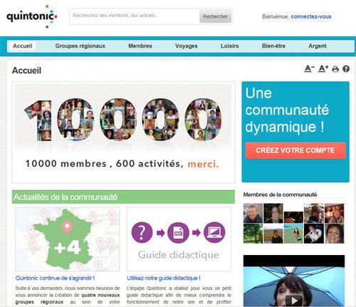Quintonic.fr : le premier réseau social senior