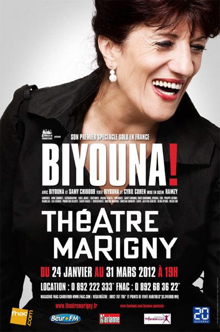 Biyouna, à 60 ans, son premier spectacle solo en France : à Paris à partir du 24 janvier 2012 au Théâtre Marigny