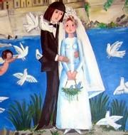 Les mariés de Peynet (mairie d'Antibes)
