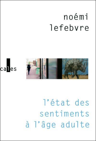 L'état des sentiments à l'âge adulte de Noémie Lefebvre (livre)