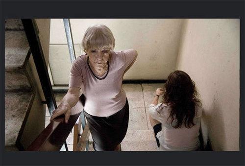 Les vieux chats : panne d'ascenseur et conséquences sur la vie d'une vieille dame (film)