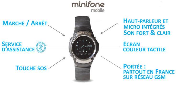 Minifone mobile : une montre téléphone GSM contre la perte d'autonomie