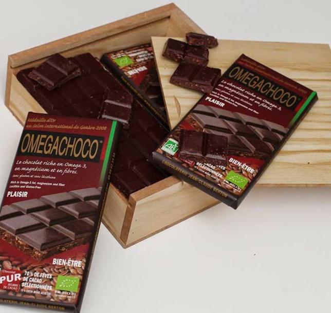 Omégachoco : un chocolat enrichi en oméga 3 bon pour la santé cardiovasculaire
