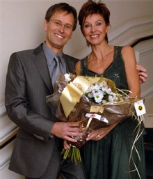 Les gagnants : Karina Eggermont et Luc Bensch