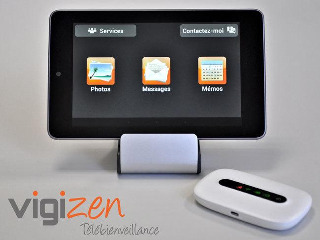 Vigizen : une tablette tactile pour faciliter le maintien à domicile