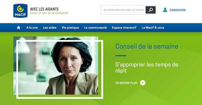 Aveclesaidants.fr, le site d'aide aux aidants de la Macif afin de mieux faire face à la dépendance