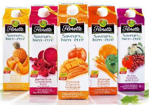 Fruits ou Légumes ? Les deux ! Florette révolutionne les jus frais en créant la gamme « Saveurs & Bien-être ».