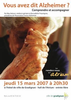 Alzheimer : mieux comprendre et appréhender la maladie lors d'une conférence à Gradignan