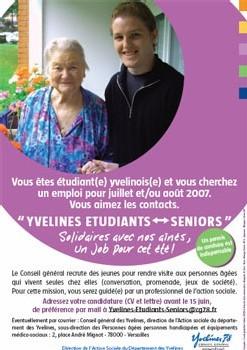 Yvelines Etudiants Seniors : des jeunes au service des seniors durant l'été