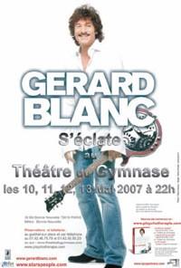 Gérard Blanc, l'ex-chanteur des Martin Circus remonte en scène en mai à Paris