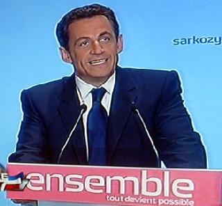 Nicolas Sarkozy sur France 2 le soir de son élection