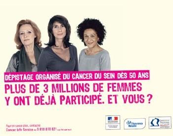 Cancer du sein : l'INC repart en campagne pour inciter les femmes à participer au programme de dépistage