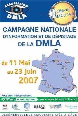 25 juin 2007 : 1ère Journée nationale de dépistage de la dégénérescence maculaire liée à l'âge (DMLA)