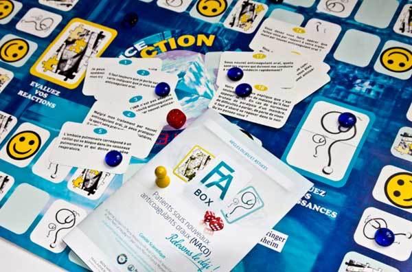 F.A. Box : former les patients sous anticoagulant oral direct avec un jeu de société