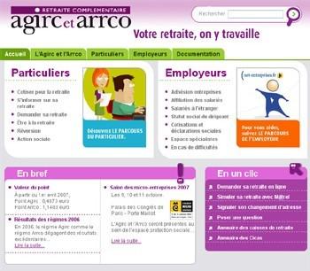 Un nouveau site Agirc - Arrco