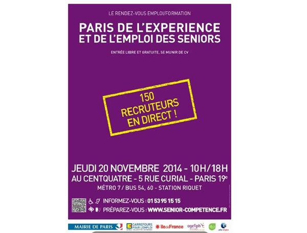 Paris de l'Expérience et emploi seniors : en route pour une nouvelle carrière !