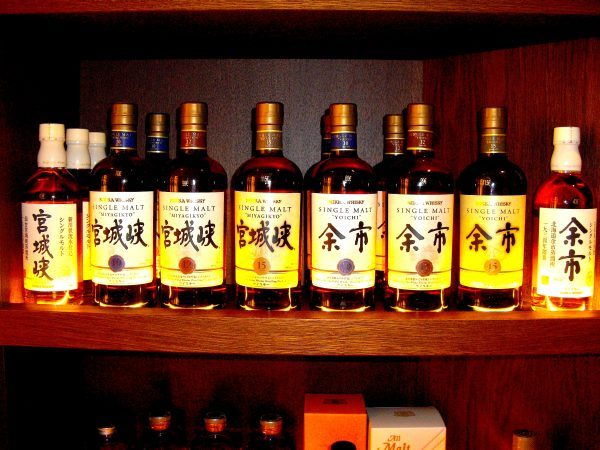 Une série rare de whiskies de chez Nikka