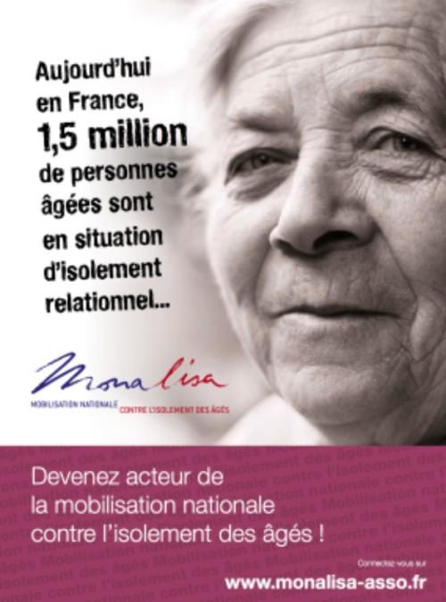 Monalisa : mobilisation nationale contre l'isolement des aînés