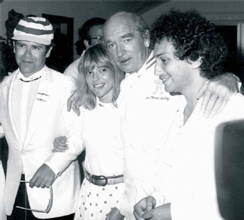 Elton John, France Gall, Eddy Barclay et Michel berger