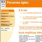 France - Le ministère des Personnes âgées a ouvert son site internet officiel