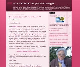 Une Espagnole remporte le prix du meilleur blog en castillan à l'âge de 95 ans
