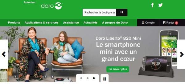 Doro : lancement d'un site de e-commerce