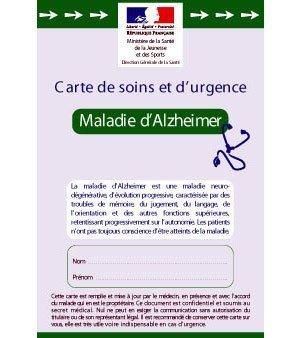 Alzheimer : une carte de soins et d'urgence pour les personnes atteintes de la maladie