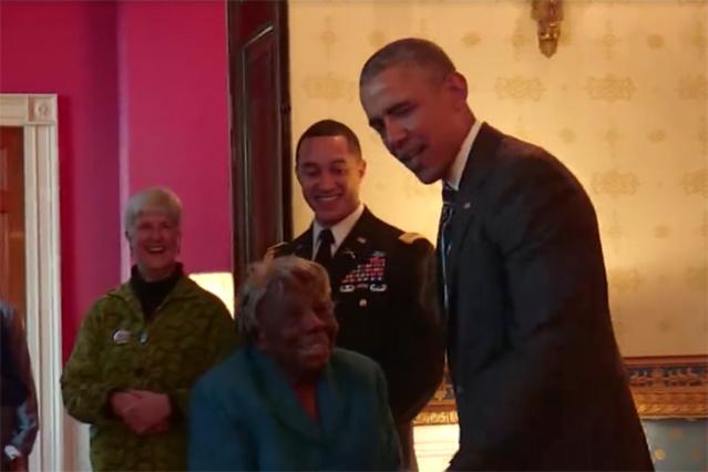 Maison-Blanche : quand une centenaire rencontre Barack Obama !