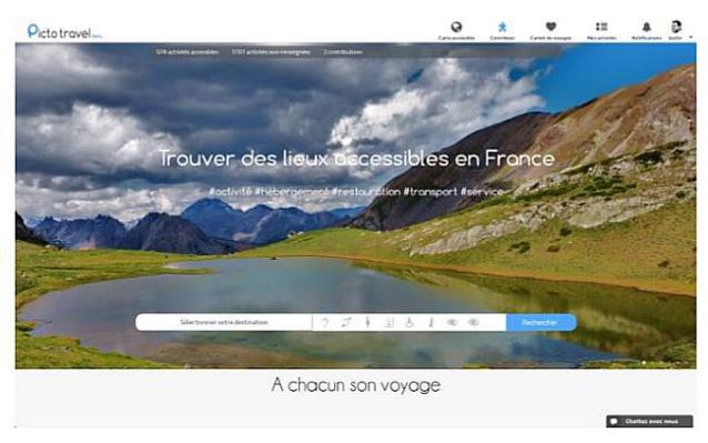 PictoTravel.fr : moteur de recherche sur les lieux accessibles