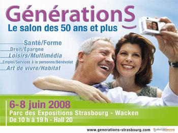 Générations, un nouveau salon senior à Strasbourg du 6 au 8 juin prochains