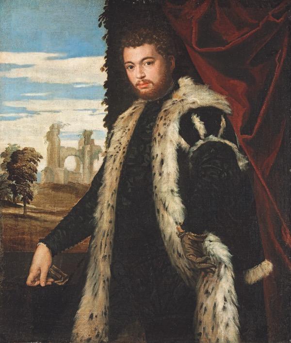 Véronèse. Jeune homme vêtu de fourrure Lynx (1551-53). Huile sur toile, 120 × 102 cm, Szépmûvészeti Muzeum de Budapest. DR